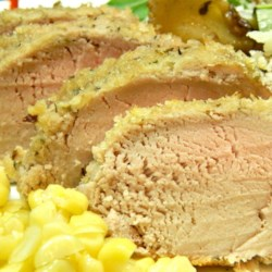 Pork Tenderloin (Gluten-Free) Recipe - Baked pork tenderloin coated in a seasoned, gluten-free breading is a quick and easy weeknight meal.