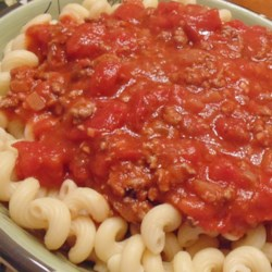 Easy Meat Sauce Recipe - This meaty tomato sauce for pasta is easy to prepare, with a lengthy simmer time helping deliver plenty of flavor.
