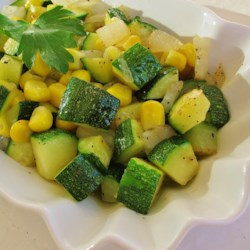 Fresh Corn and Zucchini Saute Recipe - Fresh corn and zucchini are pan-fried in butter, creating a lovely side dish perfect for summer evenings.