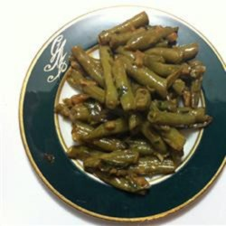 Awesome Green Beans with Kale Recipe - Kale adds extra green to this creamy and cheesy green bean side dish flavored with sriracha, garlic, and shallot.