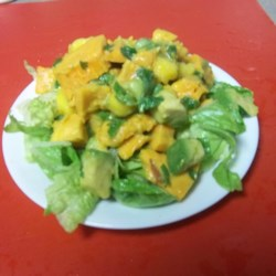 Roasted Sweet Potato Mango Salad