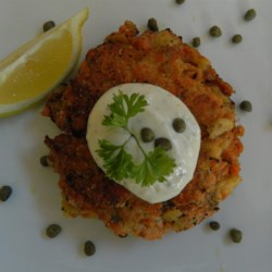Chef John's Salmon Cakes  Recipe - Use canned wild red salmon to make Chef John's budget-friendly recipe for homemade salmon cakes.