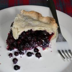 Saskatoon Pie Recipe - This family-favorite pie is made from Saskatoon berries from the Canadian prairies. Saskatoons resemble blueberries with a nutty, cherry-like flavor.