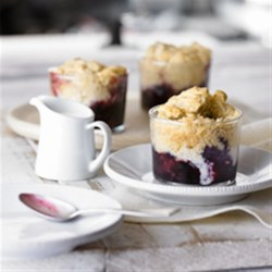 Blueberry Ginger Cobbler Recipe - For a summer dessert, it's hard to beat a warm berry cobbler, topped with a dollop of fresh cream, as tradition demands.