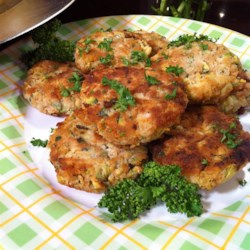 "Connie's Zucchini ""Crab"" Cakes Recipe - ""These really taste like crab cakes but without the crab, and are a really good way to utilize that bumper crop of zucchini!"""
