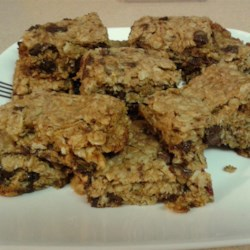 Chewy Granola Bars Recipe and Video - Extra chewy granola bars. You can make them your own by picking different ingredients to add in!  Try using any combination of miniature chocolate chips, sunflower seeds, raisins, chopped dried fruits, candy-coated chocolate pieces, chopped nuts, etc.