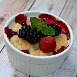 Raspberry and Blueberry Cobbler Recipe - This cobbler recipe uses blueberries and raspberries to deliver a delicious summery treat.