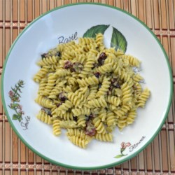 GF Rotini with a Charred Green Onion Pesto, Toasted Cashews and Cranberries