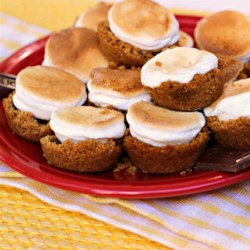 S'mores in a Cup Recipe - S'mores made with graham cracker crumbs and butter as the base and layered with chocolate and marshmallows are baked in muffin tins for an indoor version.