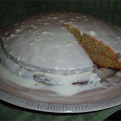 Banana Cake with Sour Cream Frosting