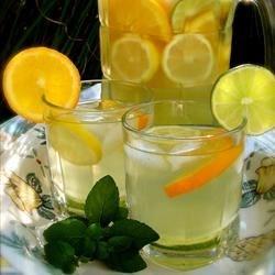 Citrus Lemonade Recipe - Lemons, limes, and oranges combine to make this simple, refreshing cooler.