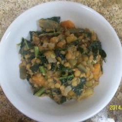 Amazing Lentils and Kale Recipe - Kale and lentils blend with carrots, onion, and prepared salsa in this 'amazing' recipe!