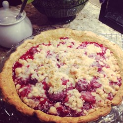 "The Old Boy's Strawberry Pie Recipe - This is a summertime tradition in my family, and we have NEVER tasted, (or even seen), a strawberry pie like it! ""The Old Boy"" is my dad, but my mom remembers her grandmother making a pie like this when she was young."