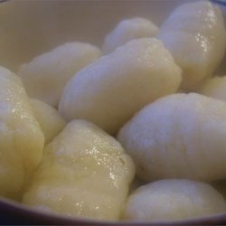 Quick Gnocchi Recipe - Make tender, delicious gnocchi using instant mashed potatoes to slash prep time. Blend egg, salt, pepper, flour and mashed potatoes into a dough, cut into bite -size pieces and cook in boiling water. Serve with the sauce of your choice.
