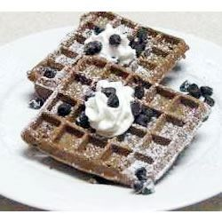 Waffle Iron Brownies Recipe - Brownies made on a waffle iron.