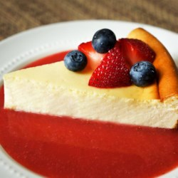 New York-Style Cheesecake Recipe - A beautifully flavored, citrus-infused New York-style cheesecake with a graham cracker crust.