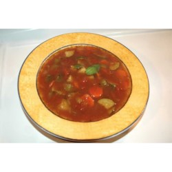 Quick Italian Vegetable Soup Recipe - A quick Italian vegetable soup ready in less than an hour. A sprinkle of fresh grated Parmesan on top is optional.