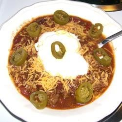 No Tomato Chili Recipe - This chili has a great kick to it, and for those of you who don't like chunky tomatoes, this one's for you! (It's great if you like tomatoes too!)