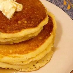 Corn Muffin Pancakes Recipe - Quickly whip together a pancake batter with prepared muffin mix, flour, baking powder, egg, and milk.