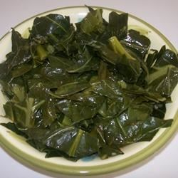 Tasty Collard Greens Recipe and Video - A classic recipe for collard greens that uses smoked turkey to add some flavor. Greens are simmered in chicken stock, then spiced with a dash of red chile flakes.