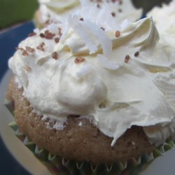 Buttery Cupcakes with Coconut Topping