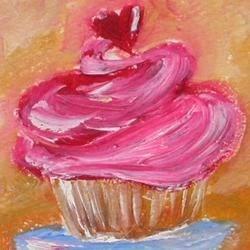 Pink Cupcake painting