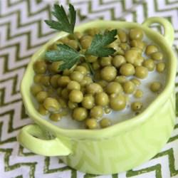 Delicious Creamed Peas