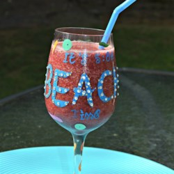 Watermelon Summertime Slush Recipe - A crisp and refreshing fruit slushy with coconut water, cherries, and watermelon will cool you off on a hot summer day.
