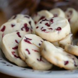 Citrus Shortbread Cookies Recipe - Orange zest and dried cranberries give these classic shortbread cookies an extra zing.