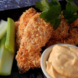 Unfried Chicken Recipe - If you crave southern-style fried chicken but fear the calories, try this oven-baked version of chunks of chicken coated in well-seasoned panko bread crumbs.
