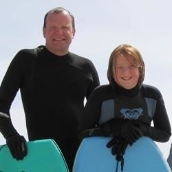 My daughter and me at Cannon Beach