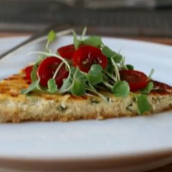 Savory Ricotta Tart Recipe - Chef John's recipe for savory ricotta tart is a simple combination of great ricotta cheese and fresh herbs with just enough egg to hold it together.