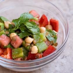 Moroccan Lentil Salad Recipe - A quick, colorful and spicy protein-rich salad or side dish