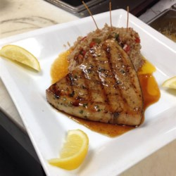 Grilled Marinated Swordfish