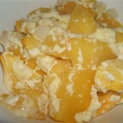 Savory Pumpkin Casserole Recipe - This pumpkin casserole is savory, not sweet. Fresh pumpkin is diced and baked with ricotta cheese, onion, eggs, and seasonings until golden brown.