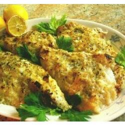 Onion Dijon Crusted Catfish Recipe - Catfish fillets are seasoned with honey mustard and onion, then baked until golden brown in this easy main dish.
