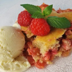 Rhubarb Demi (John's Cobbler) Recipe - I've had this recipe for over twenty years, and have made it nearly every Spring since. Hope you enjoy this quick and easy recipe as much as my family has.
