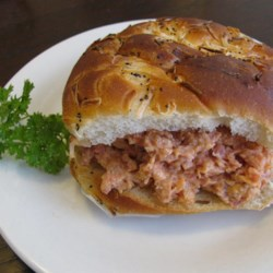 Lucy's Ham Spread  Recipe - A favorite old-fashioned ham spread is flavored with tomato and processed cheese. It gets a firm texture from a little bit of instant tapioca.