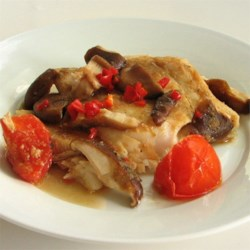 Florns' Chinese Steamed Fish Recipe - This delicate preparation for snapper is fragrant and flavorful.
