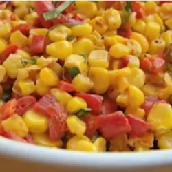 Corn Salad with Creamy Italian Dressing  Recipe - Chef John's recipe for corn salad with a creamy Italian dressing is the perfect complement to any number of grilled meats.