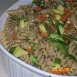 Avocado Whole Wheat Pasta Salad