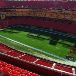View from my seats at FedEx