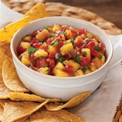 Sweet 'n' Hot Pineapple Salsa Recipe - Fresh pineapple salsa with sweet and hot relish and a hint of lime makes a perfect accompaniment to grilled meat or fish or as a snack with chips.