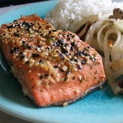 Miso Salmon Recipe - Japanese style-broiled salmon just like the restaurants.  Easy recipe I came up with at the request of my family. Serve with sticky white rice and a light salad.