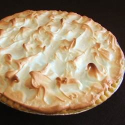 Chocolate Pie I Recipe - A homemade chocolate pudding is poured into a crust, covered with meringue, and baked until golden brown.