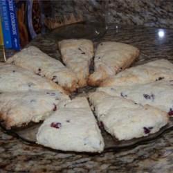 Grandma Johnson's scones w/ Craisins and White Chocolate