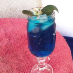 Romulan Margarita Recipe - Mysterious forces have conspired to create this blue margarita.