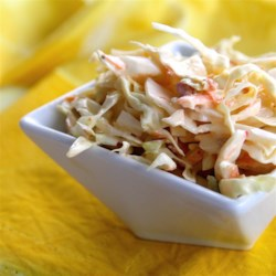 12-Second Coleslaw  Recipe - All you need is seconds to prepare Chef John's recipe for 12-second coleslaw, made with shredded cabbage, rice vinegar, Thousand Island dressing, and hot sauce.