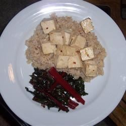 Wicked Garlic Tofu Saute Recipe - Amazingly fast and tasty recipe, very healthy too. Even the husband (not normally a huge tofu fan) enjoys it. I love it with tons of garlic but you can use less if you must. The oyster sauce I don't measure so it's approximate. It's pretty salty so use it to your taste. You could serve it with cooked white rice, but it's just as good plain.