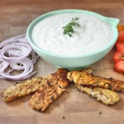 Tzatziki - A Greek Mother's Sauce Recipe - Vegan tzatziki sauce, made with silken tofu and cucumbers, is a fresh and bright sauce to add to any Greek-inspired meal.